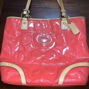 Coach Patton Leather Orange Bag